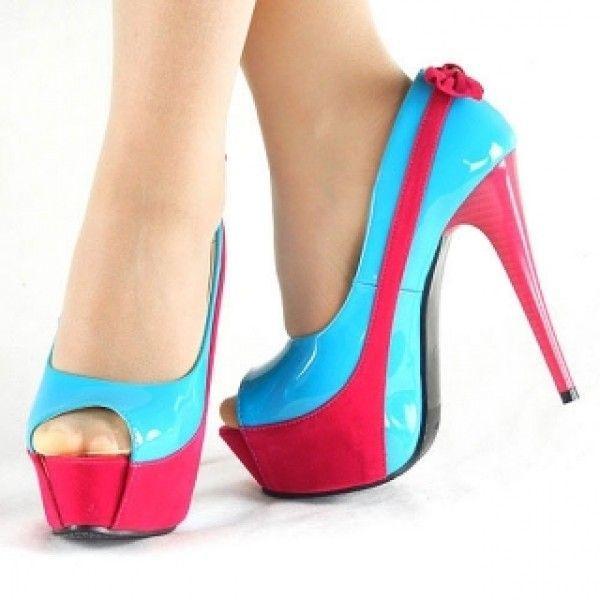 Купить онлайн РАСПРОДАЖА! Голубая зебра ботиночки на каблуке фото цена акция распродажа