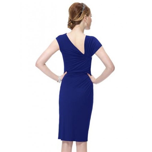 Bodycon dress with brooch blue. Артикул: IXI26624