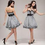 РАСПРОДАЖА! Платье-бандо с гороховым принтом по оптовой цене