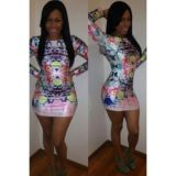 Разноцветное платье