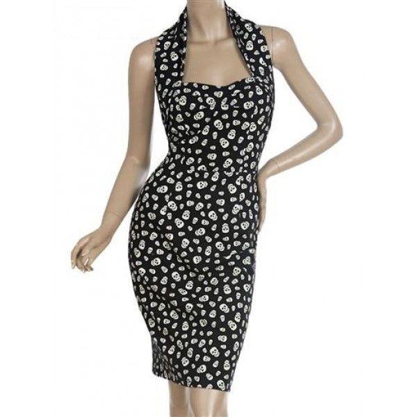 Платье с полуоткрытой спиной и абстрактным принтом