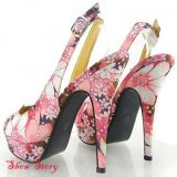SALE! Delicate sandals with floral print