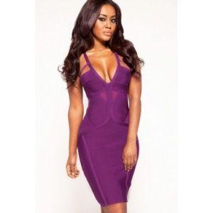 Элегантное фиолетовое платье - Платья