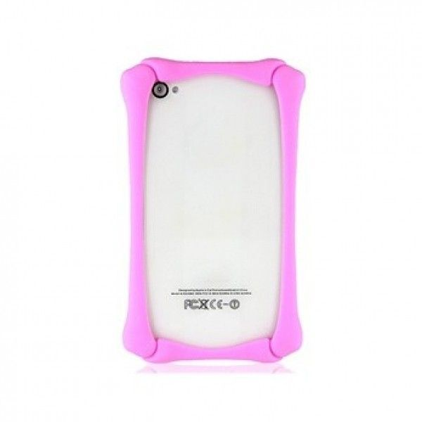 РАСПРОДАЖА! Silicone Protective Frame for iPhone 4/4S (Pink)