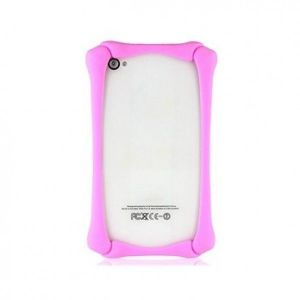 РАСПРОДАЖА! Silicone Protective Frame for iPhone 4/4S (Pink) - Подарки