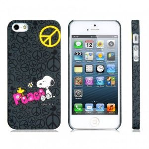 РАСПРОДАЖА! Cartoon Snoopy PC Plastic Matte Protective Case for iPhone 5 (Black)