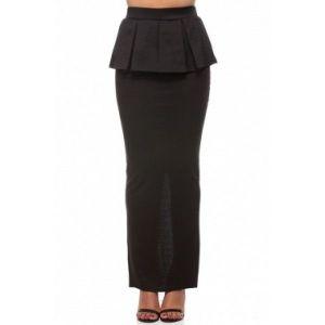 Элегантная с баской юбка макси длины - Юбки и подъюбники