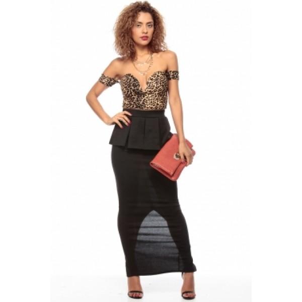 Elegant peplum skirt Maxi length. Артикул: IXI28628