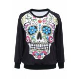Womens sweatshirt Skull Flowers
