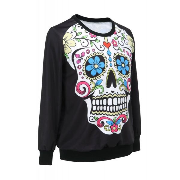 Womens sweatshirt Skull Flowers. Артикул: IXI28641