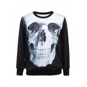 Womens Sweatshirt Skull