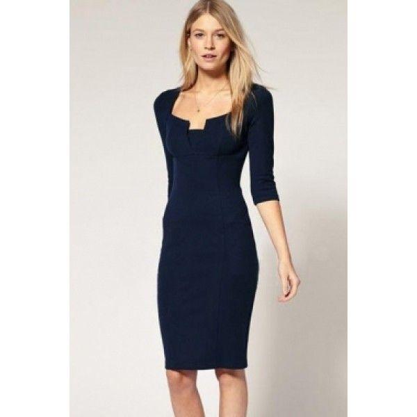Элегантное синие платье