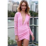Sexual rosove lace dress