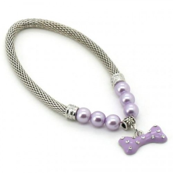 Купить онлайн Ожерелье для собак с подвеской Сердце с кристаллами фото цена акция распродажа