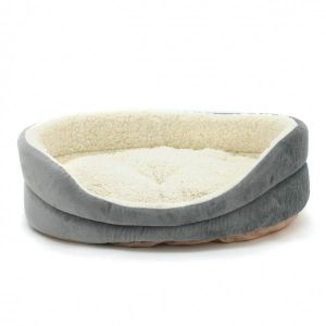 РАСПРОДАЖА! Лежак для собак овальный серый - Зоо товары