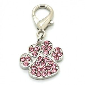 SALE! Pendant on the collar with crystal Paw