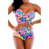 Bright floral swimsuit