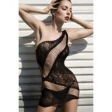 Black lace negligee