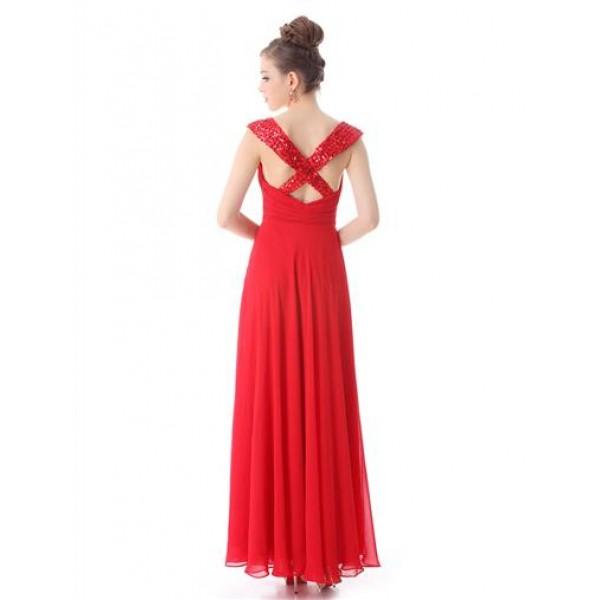 Elegant dress with shimmering rhinestones. Артикул: IXI29312