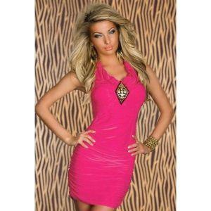 Эротичное облегающее платье розовое