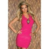 Эротичное облегающее платье розовое по оптовой цене