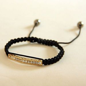 Bracelet gold color with rhinestones