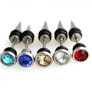 Set of multicolored piercings