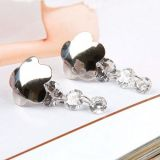 РАСПРОДАЖА! Серебряные серьги с фиолетовыми камнями по оптовой цене