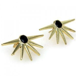 Stylish earrings in punk style