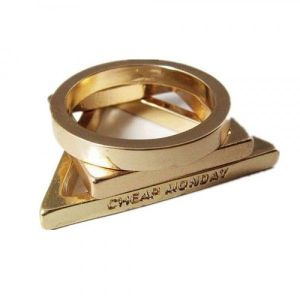 SALE! Stylish ring Golden color