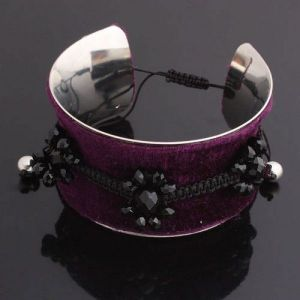 Double bracelet with stones raclet