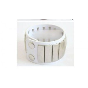 White bracelet with rivets