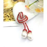Decoration red rhinestones