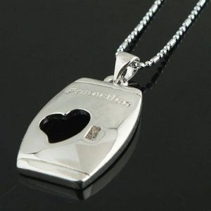 Necklace with cutout heart