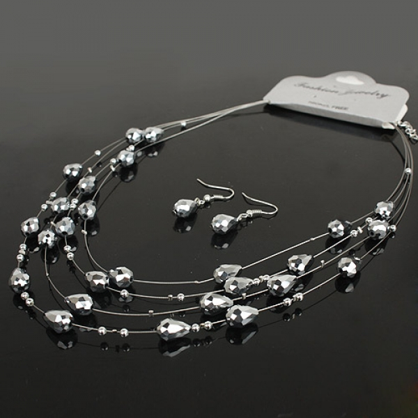Set of necklace and earrings. Артикул: IXI29610