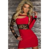 Элегантное платье красное по оптовой цене