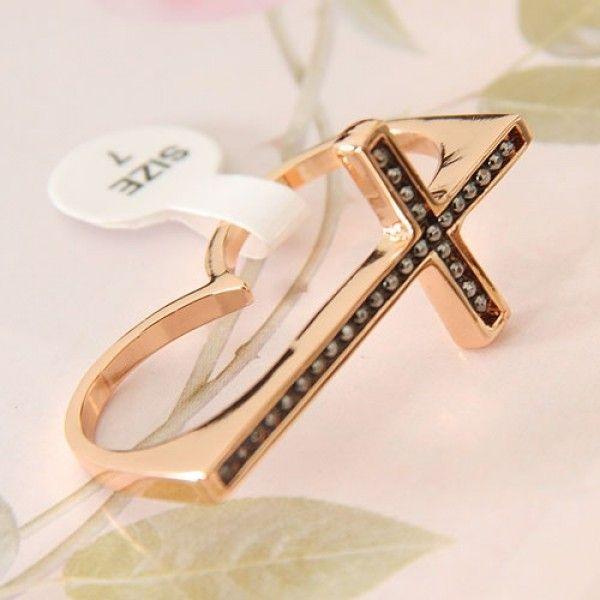 Купить онлайн Двойное кольцо с камушками фото цена акция распродажа