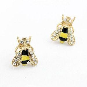 Earrings bee with rhinestones. Артикул: IXI30110