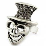Кольцо с черепом и стразами цена фото