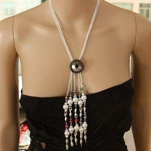РАСПРОДАЖА! Ожерелье с бусинами и с камнем