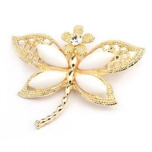 РАСПРОДАЖА! Золотистая брошь в форме бабочки