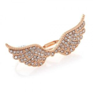 Double ring with angel wings