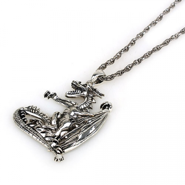 Metal necklace with dragon. Артикул: IXI30204