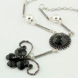 РАСПРОДАЖА! Серебристое ожерелье с бабочкой по оптовой цене
