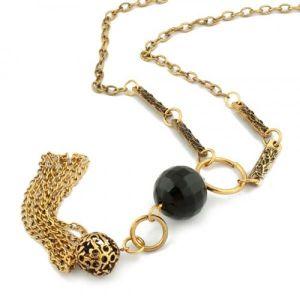 РАСПРОДАЖА! Красивое ожерелье с черным камнем