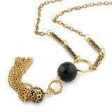 РАСПРОДАЖА! Красивое ожерелье с черным камнем по оптовой цене