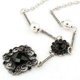 РАСПРОДАЖА! Красивое ожерелье с черными цветами по оптовой цене