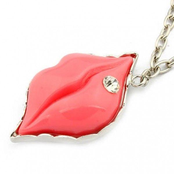 РАСПРОДАЖА! Ожерелье с красными губками