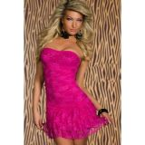 Alluring dress without straps pink