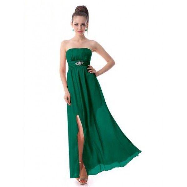 Платье без бретель с вырезом на бедре